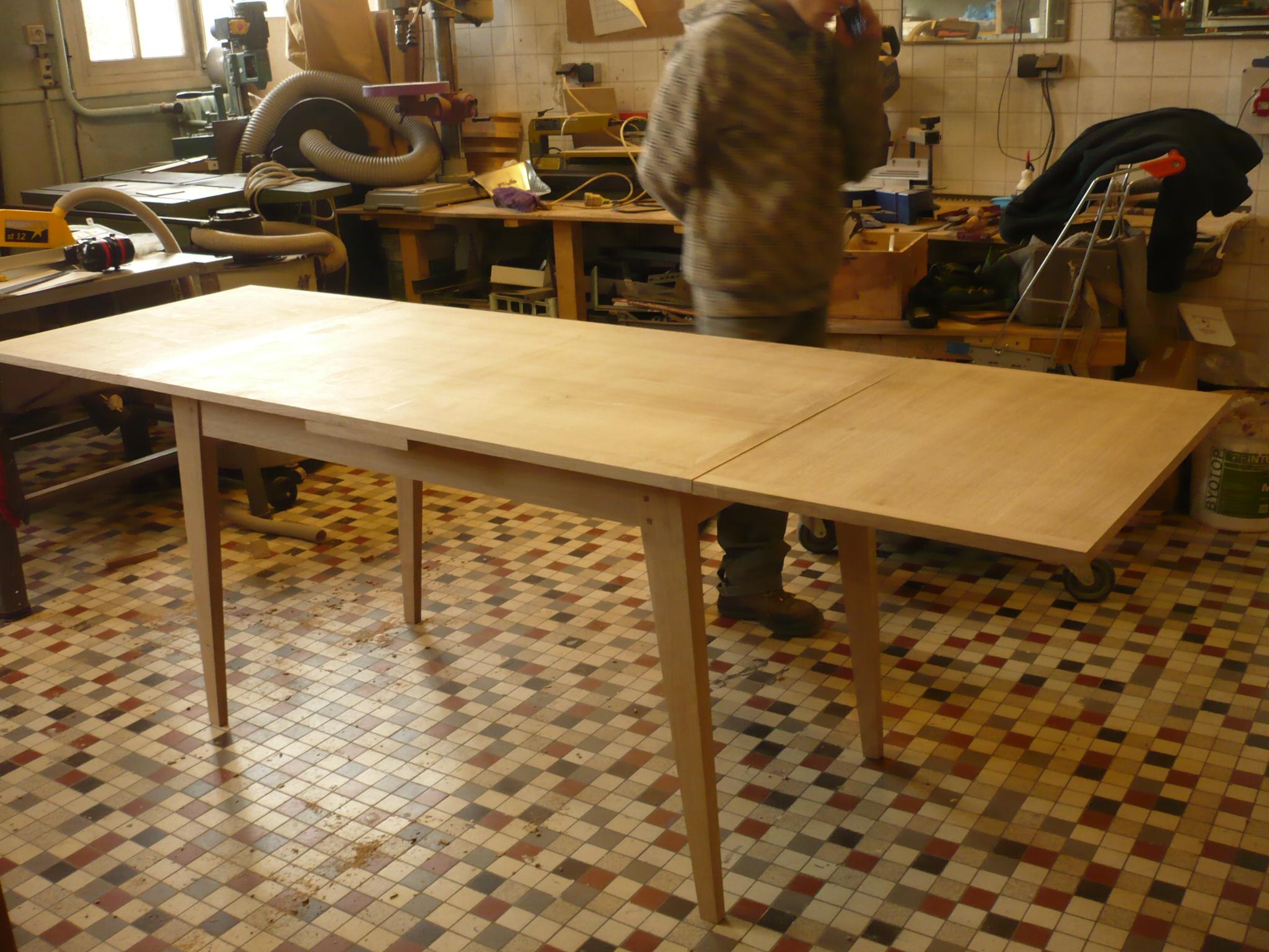 Table à rallonge en chêne