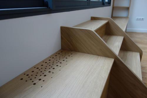 Détail aération et escalier