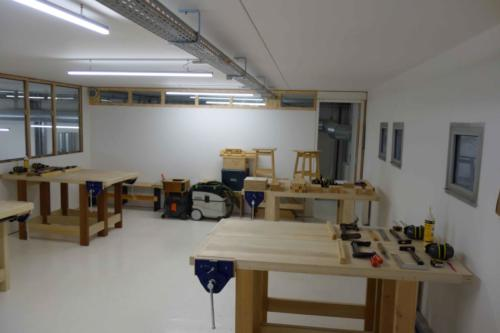 L'espace établis pour les cours et stages