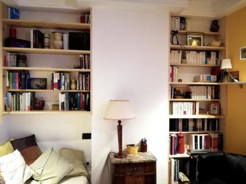 Bibliothèques sapin sur mesure