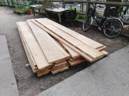Réception du bois à l'atelier